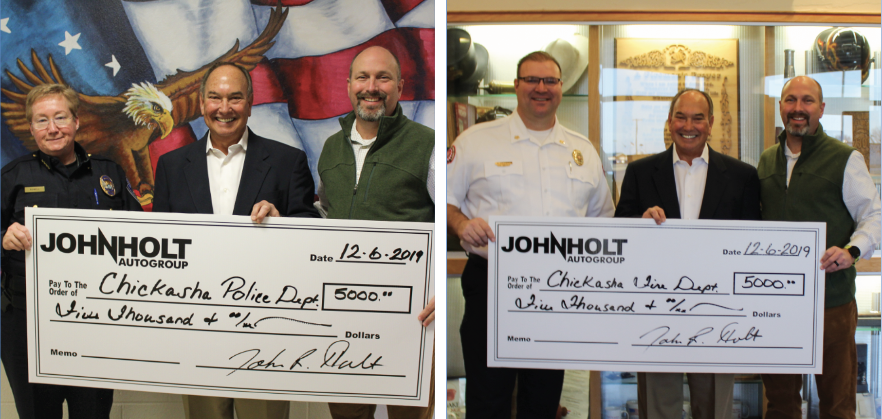 John Holt Check Presentation - Combined