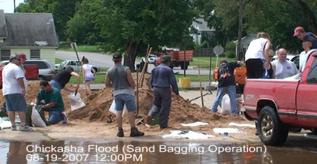 August 2007 Floods - Sand Bagging
