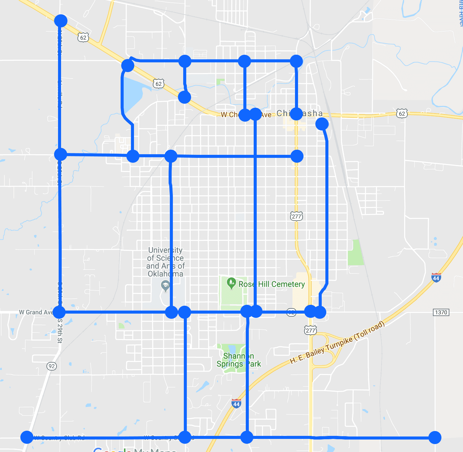 Snow Route Map